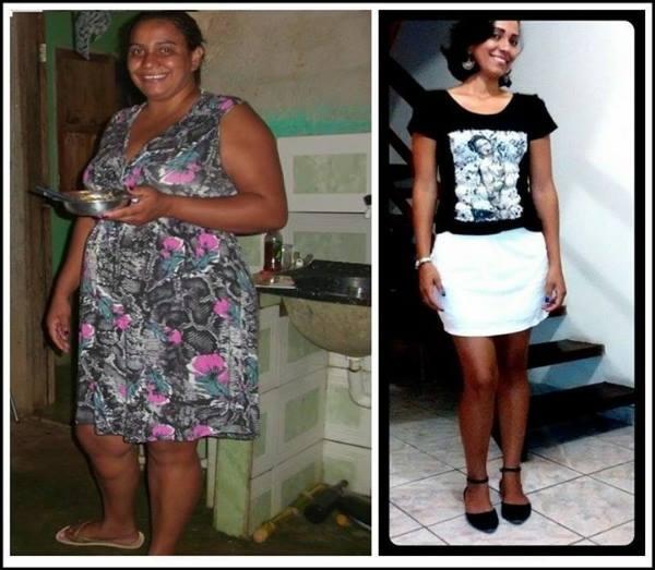 antes e depois magra e feliz