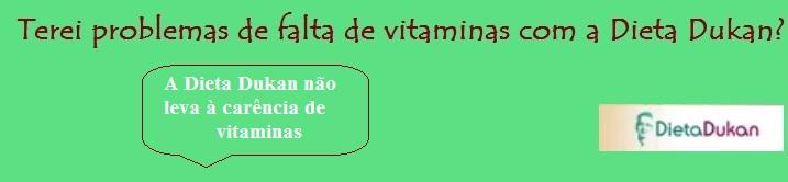 dieta dukan causa falta de vitaminas